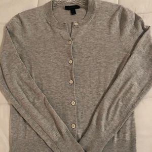 J Crew grey cardigan size XS